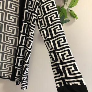 Fashion Nova Tops - Fashion Nova Geometric Cardigan & Tube Top Set